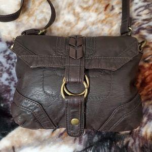 Converse Brown Leather Crossbody bag